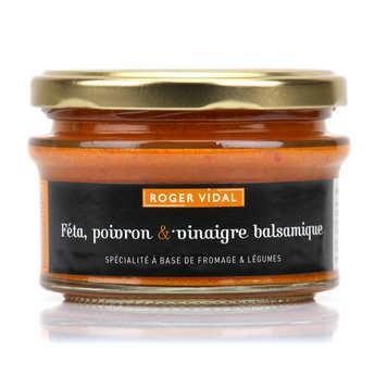 Roger Vidal - Toastine - Féta, poivron et vinaigre balsamique