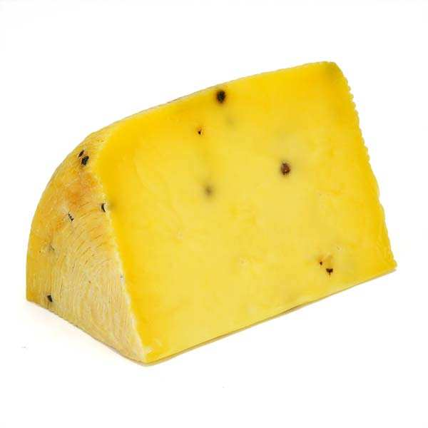 Pecorino with saffron and black pepper