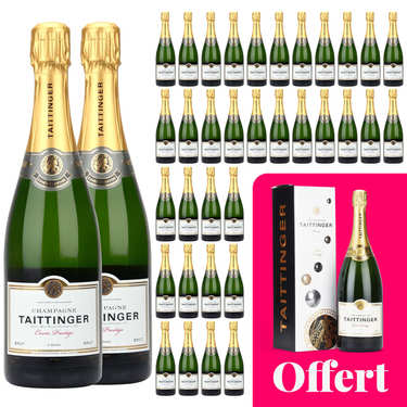 36 bottles of Taittinger Brut Prestige champagne and 1 free magnum