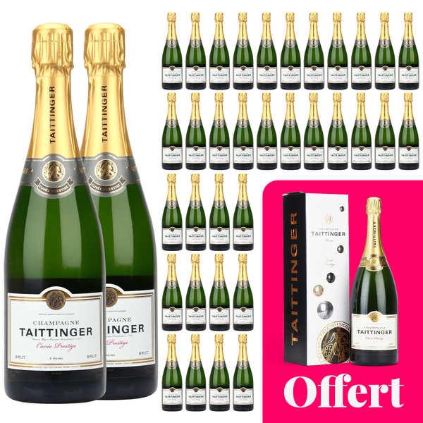 36 bouteilles Champagne Taittinger Brut Prestige et 1 magnum offert
