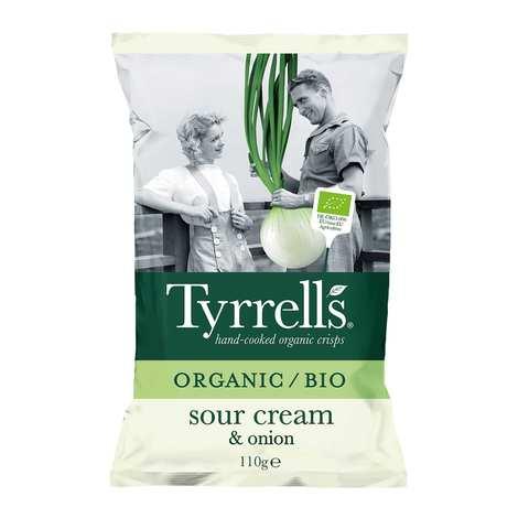 Tyrrells - Chips de pommes de terre crème et oignon bio