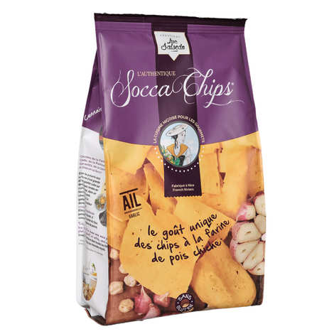 Socca Chips® - Socca Chips® - Cheakpeas Crisps with Garlic