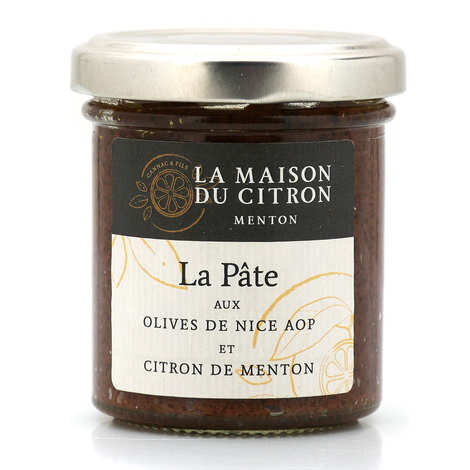 La Maison du Citron - Pâte aux olives de Nice AOP et citron de Menton