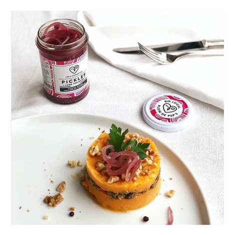 Les 3 Chouettes - Pickles d'oignon rouge vinaigre de vin bio