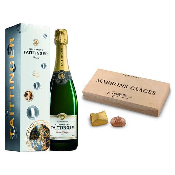 Assortiment premium Champagne et marrons glacés
