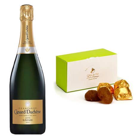 - Lot découverte marrons glacés et Champagne