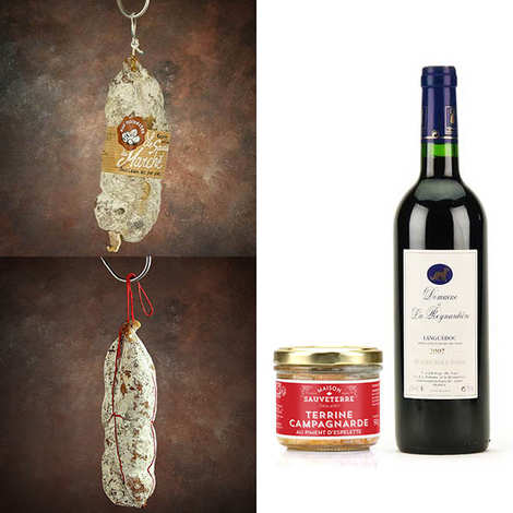 - Dry sausages, terrine and red wine discovery offer