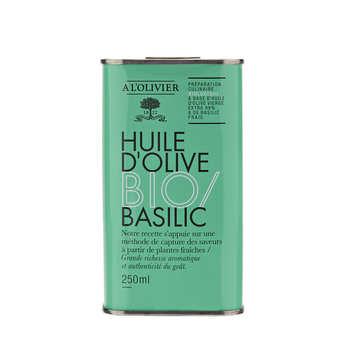 A L'Olivier - Huile d'olive vierge extra au basilic bio - A l'Olivier