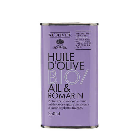 A L'Olivier - Huile d'olive vierge extra ail et romarin bio - A l'Olivier