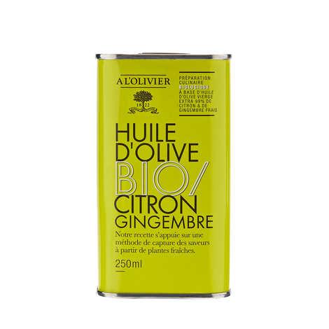 A L'Olivier - Huile d'olive vierge extra citron et gingembre bio - A l'Olivier