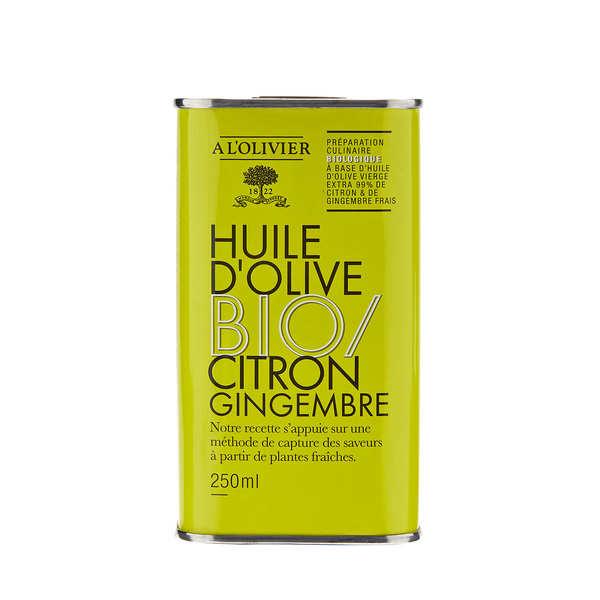 Huile d'olive vierge extra citron et gingembre bio - A l'Olivier
