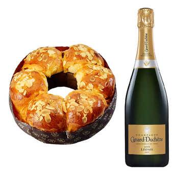 - Brioche des rois et sa bouteille de Champagne