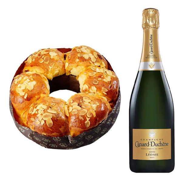 Brioche des rois et sa bouteille de Champagne