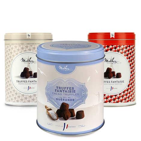 Chocolat Mathez - Assortiment de truffes Mathez