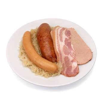 Gilbert Grosskopf - Choucroute d'Alsace cuite à la graisse d'oie avec viande fraîche artisanale