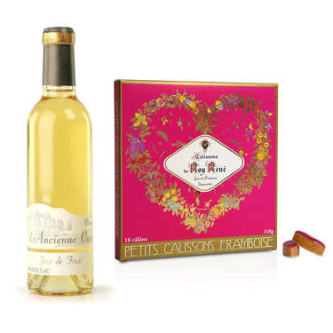 Raspberry Calissons from Aix and Organic Monbazillac Assortment