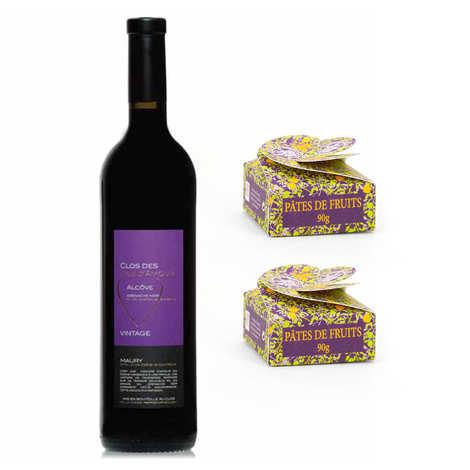 - Assortiment pâtes de fruits artisanales et vin doux de Maury