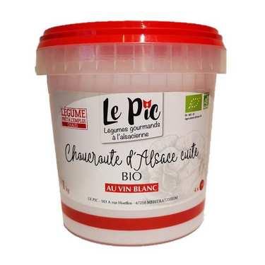 Choucroute d'Alsace cuisinée au vin blanc bio - sans viande