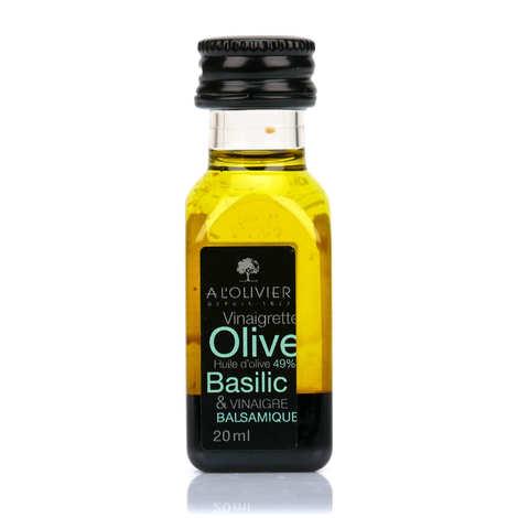 A L'Olivier - Mignonnette de vinaigrette - Huile d'olive au basilic