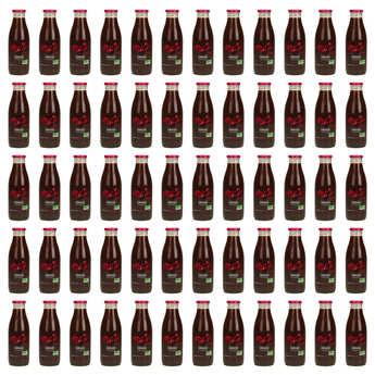 Jus Bio & Cie - 60 bouteilles de pur jus de grenade d'Iran bio - DLUO janvier 2019
