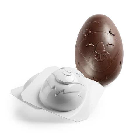 Michel Cluizel - Moule professionnel en PVC pour oeuf de Pâques en chocolat