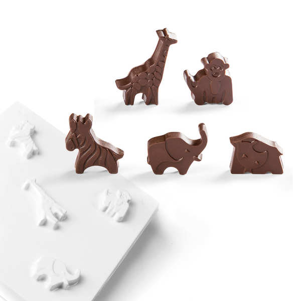 Easter PVC Mould for Chocolate - Animals of Savanna