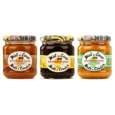 Assortiment de miels de Corse AOP