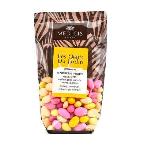 Dragées Médicis - Petits oeufs multicolores fourrés aux fruit