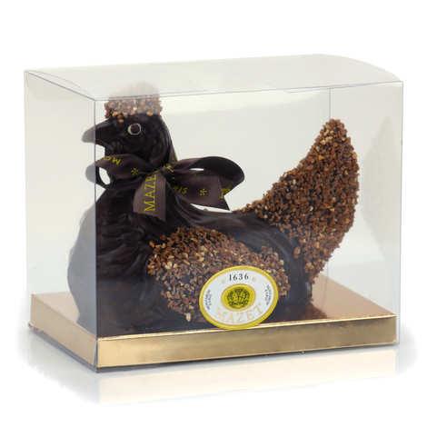 Mazet de Montargis - Poule au chocolat noir et grains de Praslines