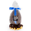 Hadrien chocolatier - Oeuf au chocolat noir garni d'oeufs praliné - Hadrien chocolatier