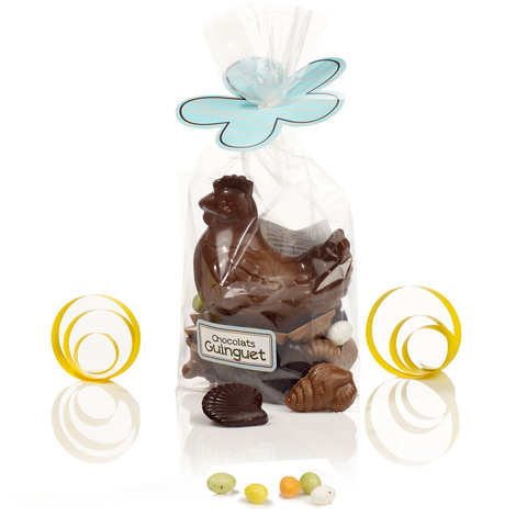 Maison Guinguet - Milk Chocolate Hen with Chocolates and Fruity Eggs