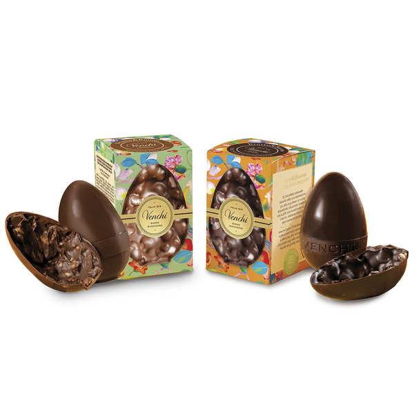 Petit œuf en chocolat et noisettes entières