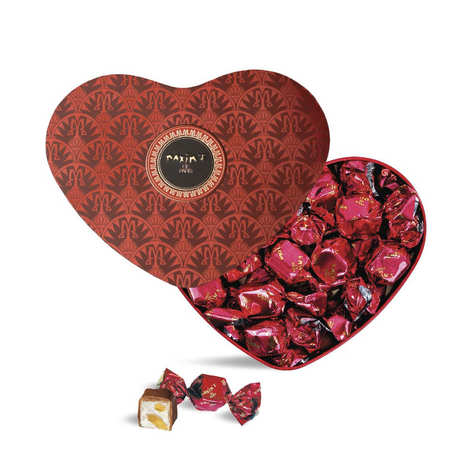 Maxim's de Paris - Heart Box Filled with Milk Chocolate and Nougat Sweets - Maxim's