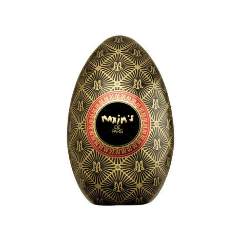 Maxim's de Paris - Coffret 2 œufs métal Maxim's garnis de chocolats au lait praliné