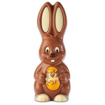 BienManger.com - Milk Chocolate Rabbit with a Chick