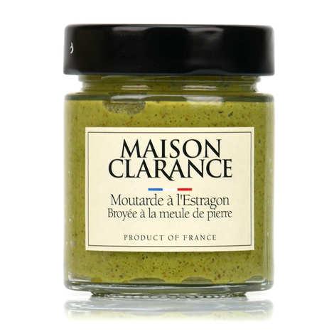 Maison Clarance - Moutarde à l'estragon broyée à la meule de pierre