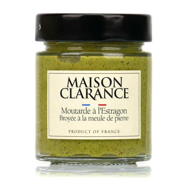 Moutarde à l'estragon broyée à la meule de pierre
