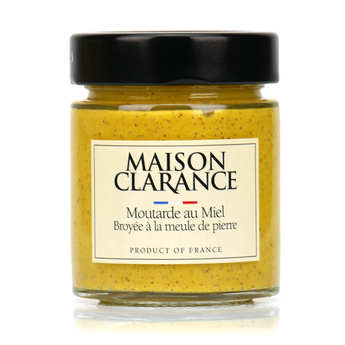 Maison Clarance - Moutarde au miel broyée à la meule de pierre