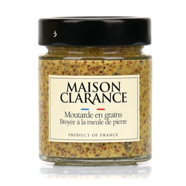 Moutarde en grains broyée à la meule de pierre