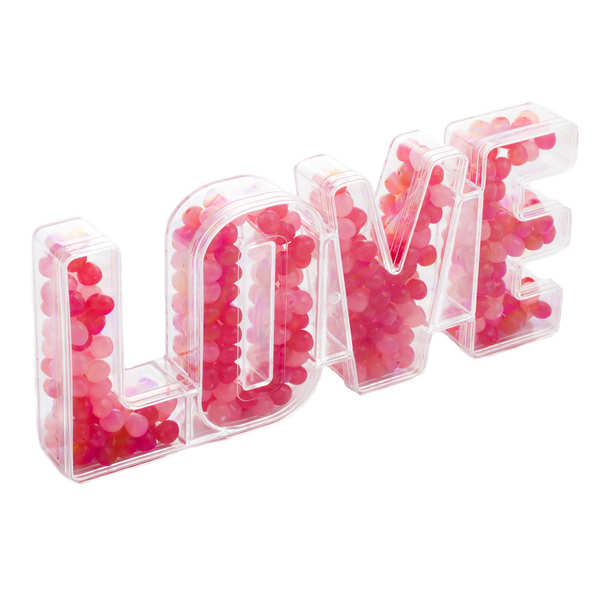 Grande Boîte 'Love' remplie de dragibus