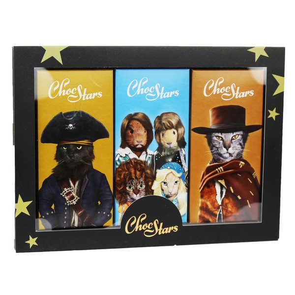 Choc Stars - 3 Chocolate Bar Gift Box
