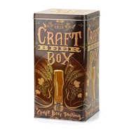 """Boite métallique décorée 'Craft Beer"""" pour 4 bouteilles de bière"""