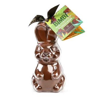 Bovetti chocolats - Bimbi Bio - Lapin en chocolat au lait et son moule à réutiliser