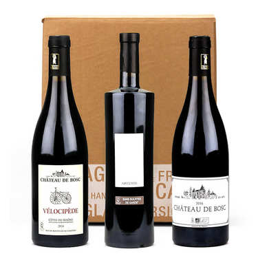 Château de Bosc 3 Wines without sulfites Box