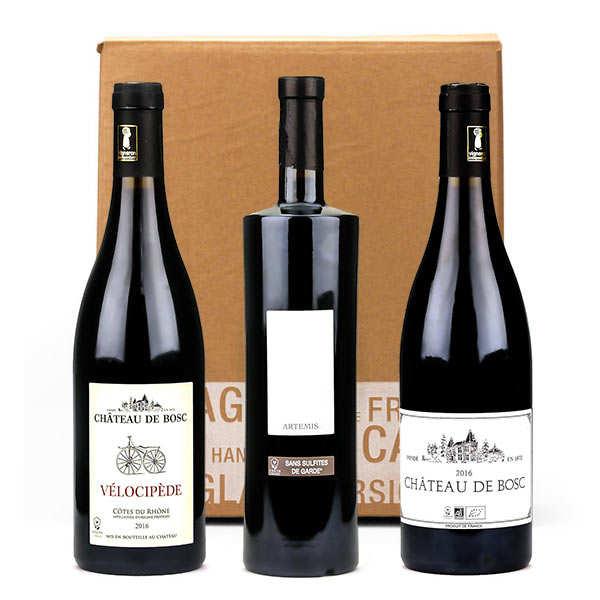 Box 3 vins sans sulfites, bio et vegan Château de Bosc