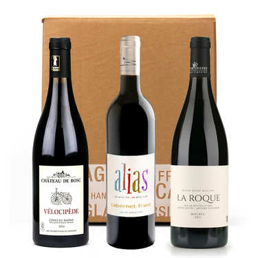 3 Organcic Red Wines without sulfites Box