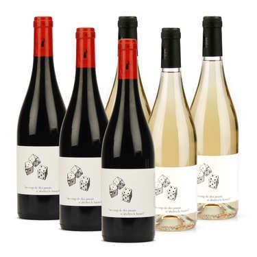 Assortiment Côtes du Rhône rouges et blancs bio sans soufre ajouté