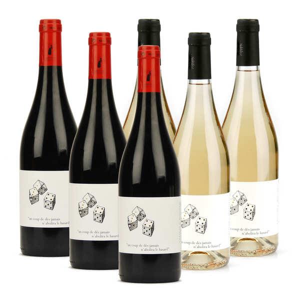 Assortiment côtes du rhône rouges et blancs bio sans soufre ajouté - 6 bouteilles de 75cl