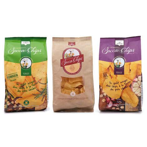 Socca Chips® - Assortiment découverte chips de pois chiche