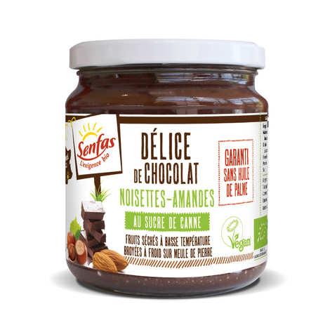 Senfas - Délice de chocolat, amandes, noisettes bio et sans huile de palme